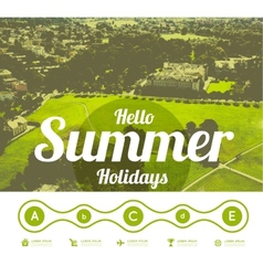 Hello summer holidays vector image
