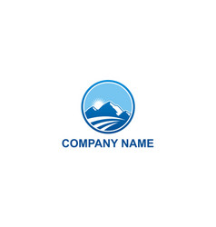 high mountain travel nature company logo vector image