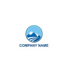 high mountain travel nature company logo vector image