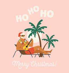 holiday or vacation with santa claus flat vector image