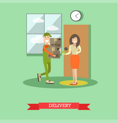 home delivery concept in flat vector image