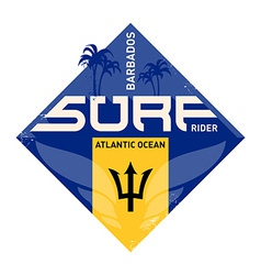 inspirational print atlantic ocean surfers label vector image