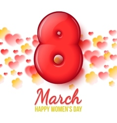 International Women Day March 8 volume eight vector
