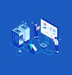 internet data center vector image