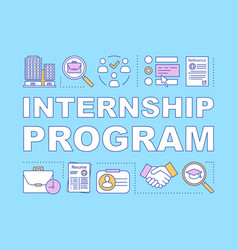 Internship program word concepts banner vector