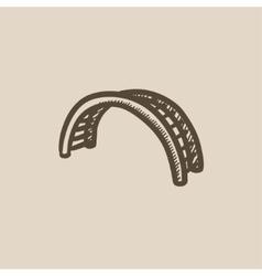 Jungle gym sketch icon vector