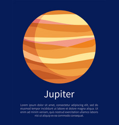 Jupiter informative vertical poster with text vector