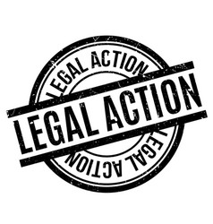 legal action rubber stamp vector image