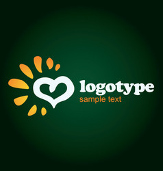 Logo design in love type vector