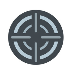 military aim target icon flat style vector image