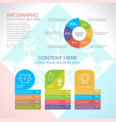 Modern graph design or infographic design vector