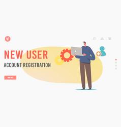 New user online registration create account via vector