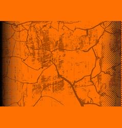 Orange grunge background with texture vector