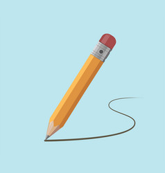 pencil draws a contour vector image