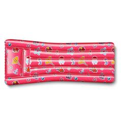 Pink air mattress vector