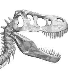 polygonal dinosaur head dinosaur skull with sharp vector image