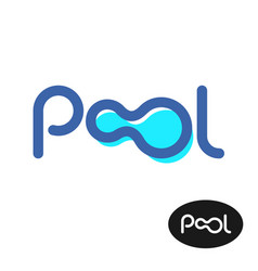 pool word logo pool letters sign vector image