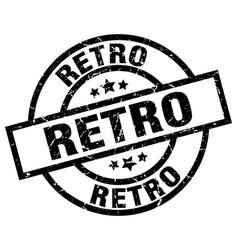 retro round grunge black stamp vector image