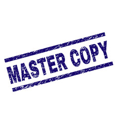 Scratched textured master copy stamp seal vector