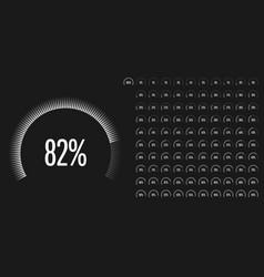 Set circular sector percentage diagrams vector