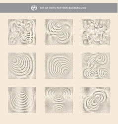 set of dots pattern wave background rough texture vector image