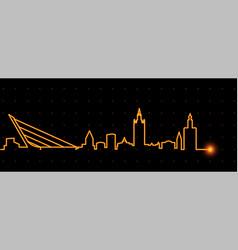 Seville light streak skyline vector