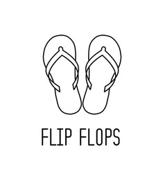 Slipper flip flops line icon vector