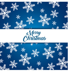 snowflakes background to celebrate merry christmas vector image