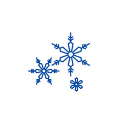 snowflakes line icon concept snowflakes flat vector image