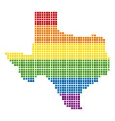 Spectrum pixel lgbt texas map vector