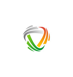 Spin abstract colored logo vector