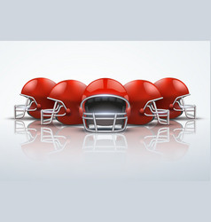 Sport background with american football helmets vector