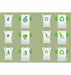 T-shirt recycler women men vector