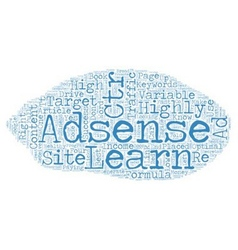 The Full Adsense Formula text background wordcloud vector image