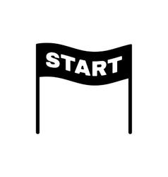 The start icon Start symbol Flat vector image