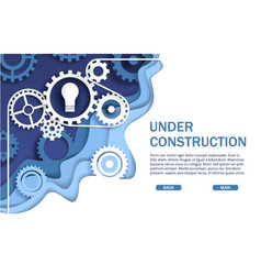under construction website page web banner vector image