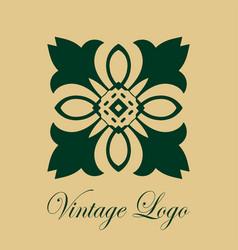 vintage ornate logo vector image