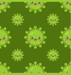 virus kawaii cute cartoon pattern funny infection vector image