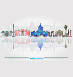 washington city background vector image