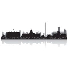 Washington USA city skyline silhouette vector image