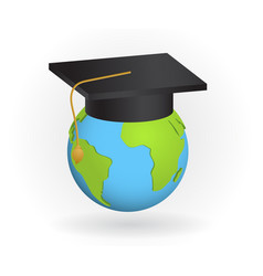 world education concept college symbol graduate vector image