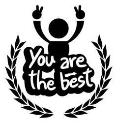 You are the best vector image