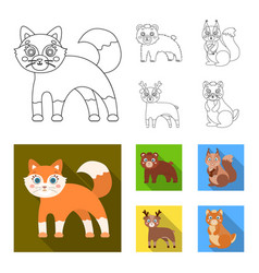 Zoo nature reserve and other web icon in outline vector
