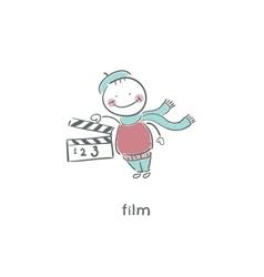 Blank Film slate or clapboard vector image vector image