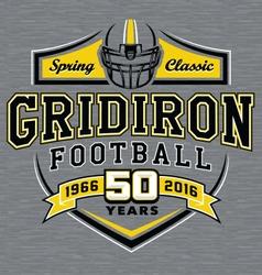 Gridiron football t-shirt graphic design vector image vector image