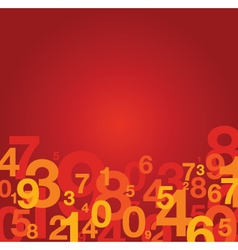number background red vector image vector image