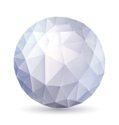 Polygonal sphere vector image vector image