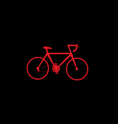 red bicycle icon vector image vector image
