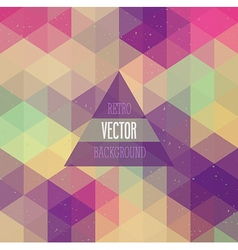 Retro background with triangles vector image vector image