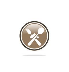 spoon fork restaurant dinner logo vector image